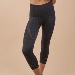 Gymshark Charcoal Seamless Crop Leggings